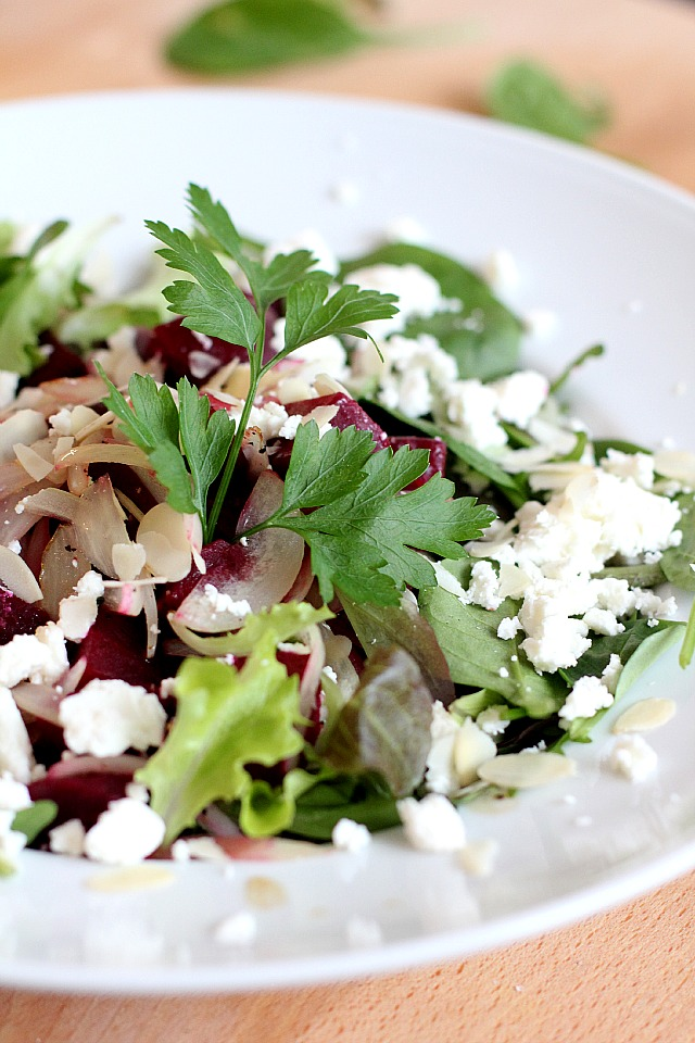 salad with beetroot and feta