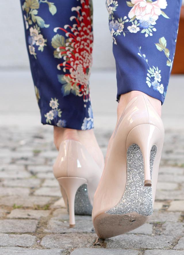miu miu nude patent leather glitter heels