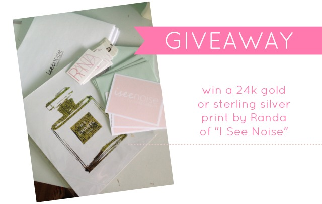 I See Noise 24k gold print giveaway