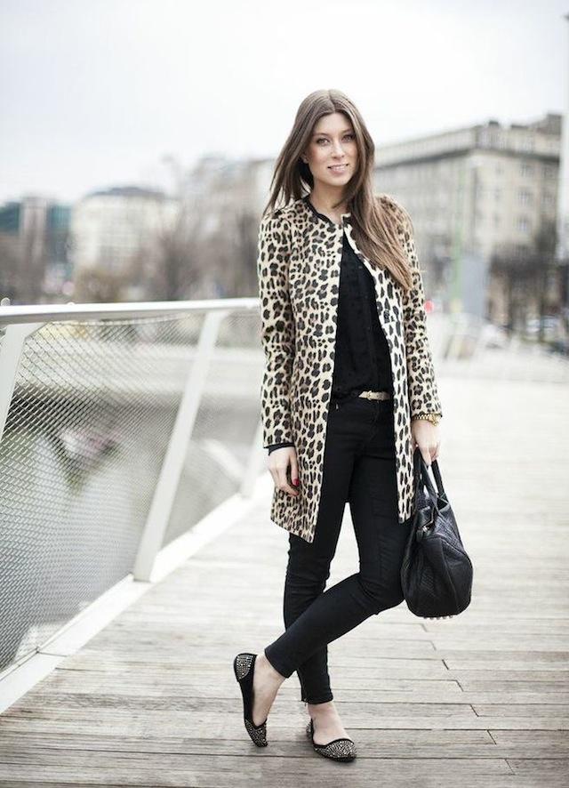 Zara leopard coat 01
