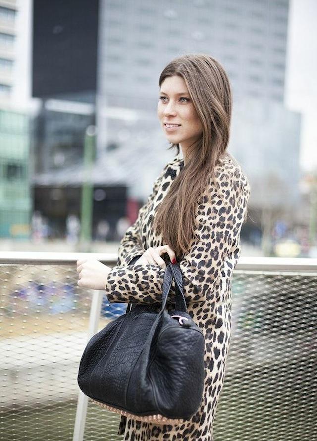 Zara leopard coat + Alexander Wang Rocco bag 02