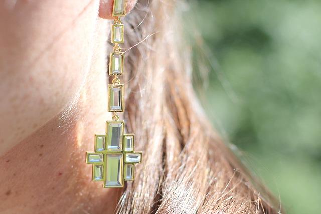 Girissima.com Isharya's Prism Mirror Cross earring