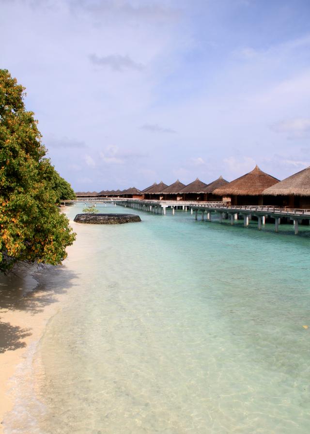 Kuramathi Island water villas