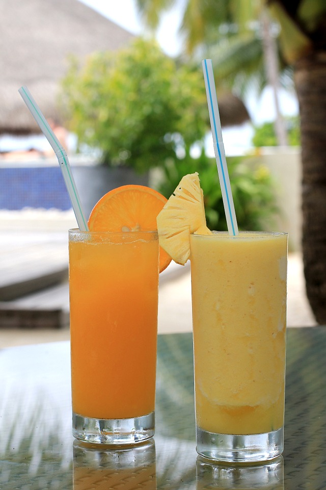 Kuramathi Island fresh fruit juices