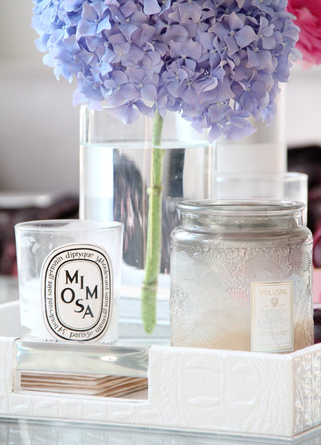 diptyque mimosa & voluspa french cade lavender