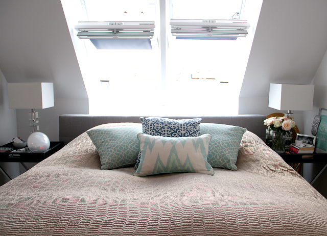 Our Bedroom: Patterned Pillows