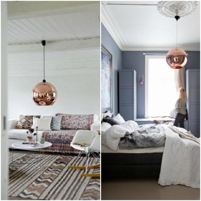 tom dixon kobber lampe. Black Bedroom Furniture Sets. Home Design Ideas