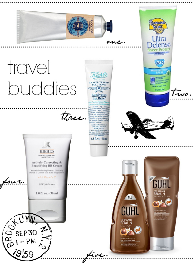 Travel Buddies: Skin & Hair Products
