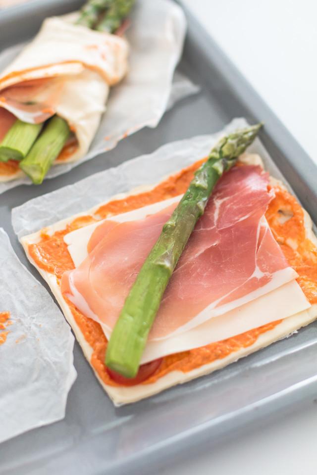 homemade pizza pockets with asapragus | Bikinis & Passports