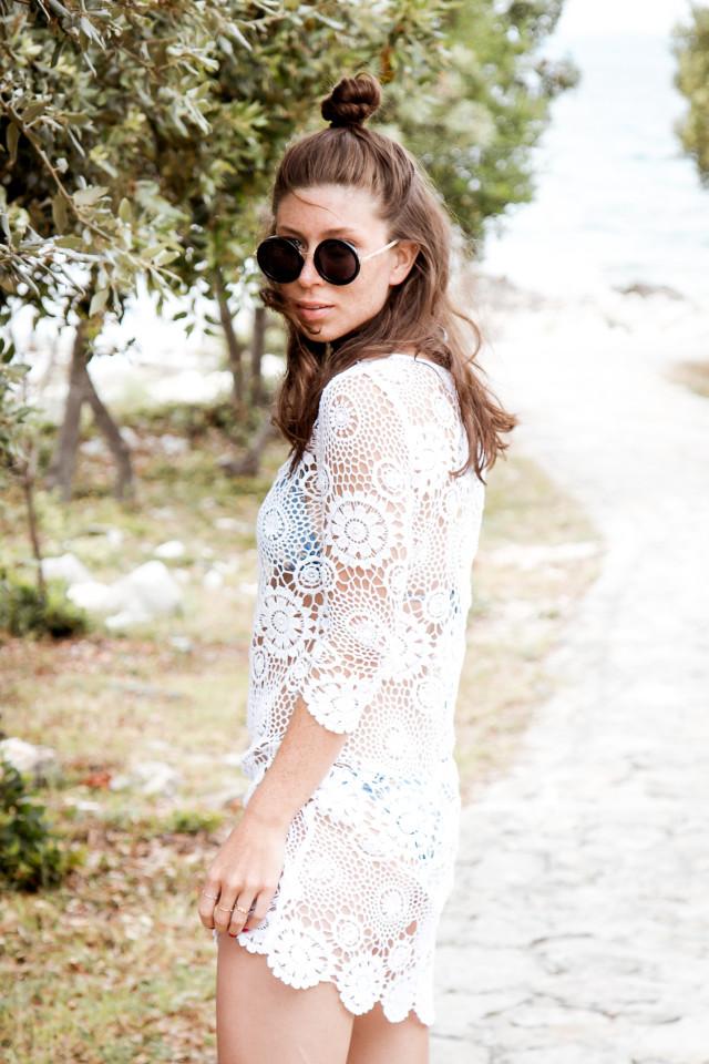 OUTFIT: white crochet beach dress | Bikinis & Passports