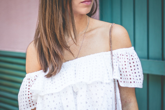 OUTFIT: rebecca minkoff celestine off-shoulder top | Bikinis & Passports