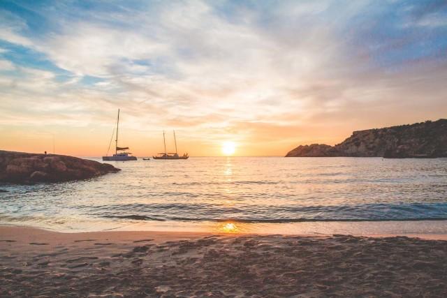 amazing sunset in Ibiza   Bikinis & Passports