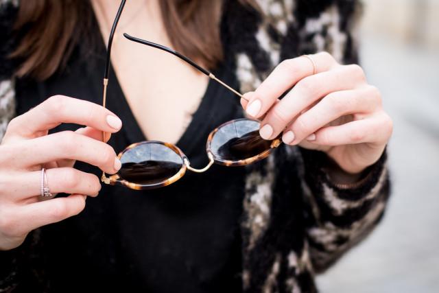 OUTFIT: Anine Bing deep v-neck shirt | Bikinis & Passports