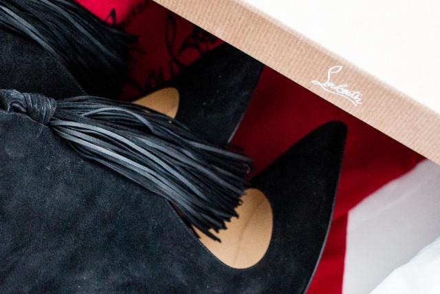 Birthday Present: Christian Louboutin Ottocarl Black Booties | Bikinis & Passports
