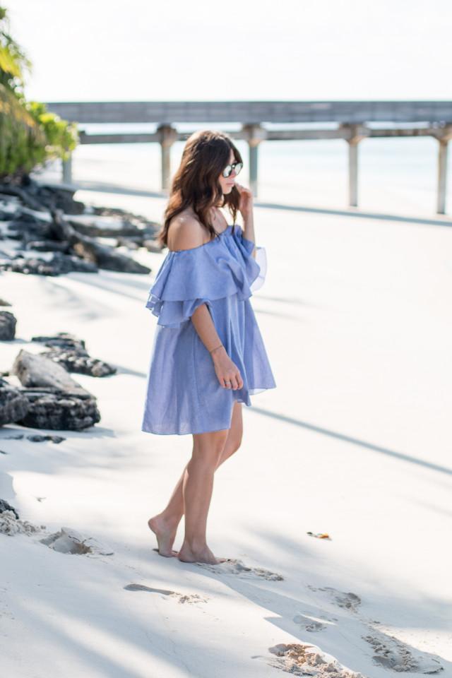 OUTFIT: mlm Label maison off shoulder dress   Bikinis & Passports