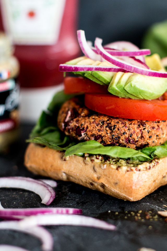 Vegan Quinoa Burger Recipe | Bikinis & Passports