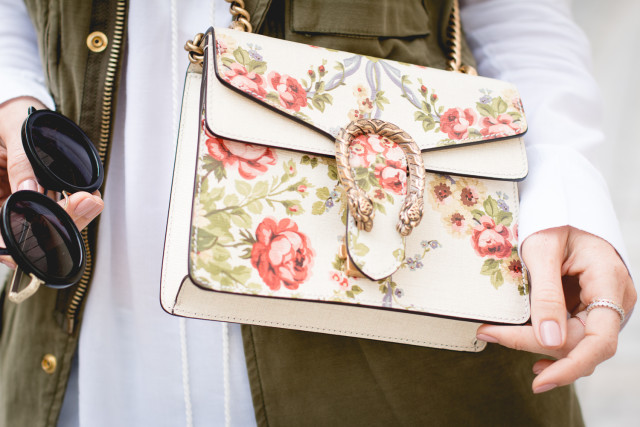 Gucci for NET-A-PORTER Dionysus mini floral-print leather shoulder bag | Bikinis & Passports