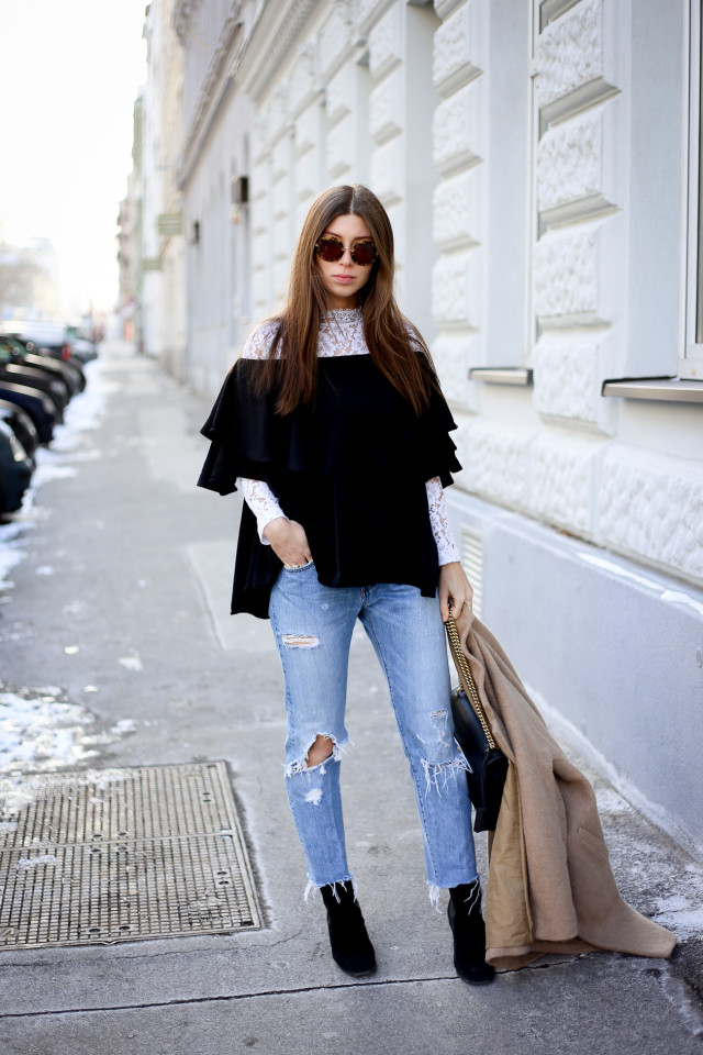 09ed09b265 OUTFIT: how to wear off-shoulder tops in Winter | Bikinis & Passports ...