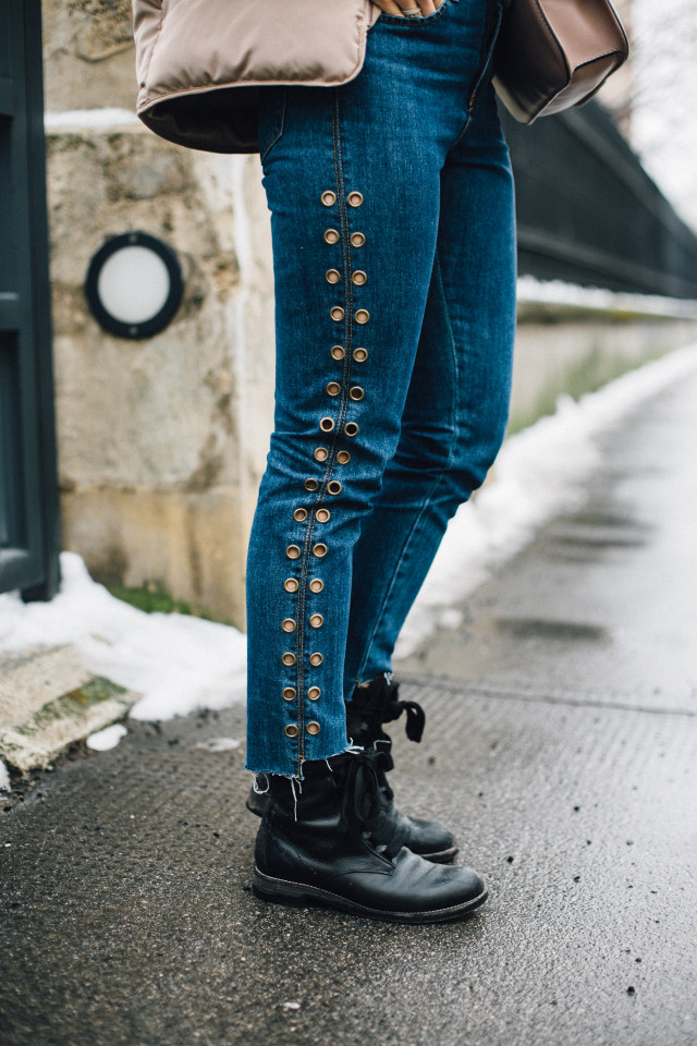 OUTFIT: studded mom jeans + chloé boots   Bikinis & Passports
