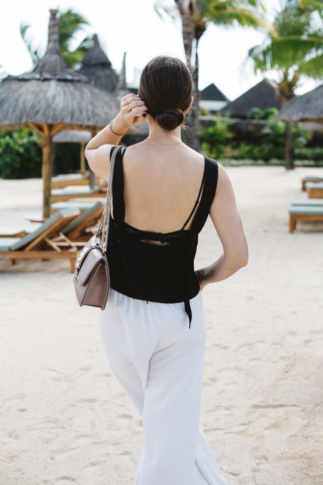 OUTFIT: white wide-legged palazzo pants | Bikinis & Passports