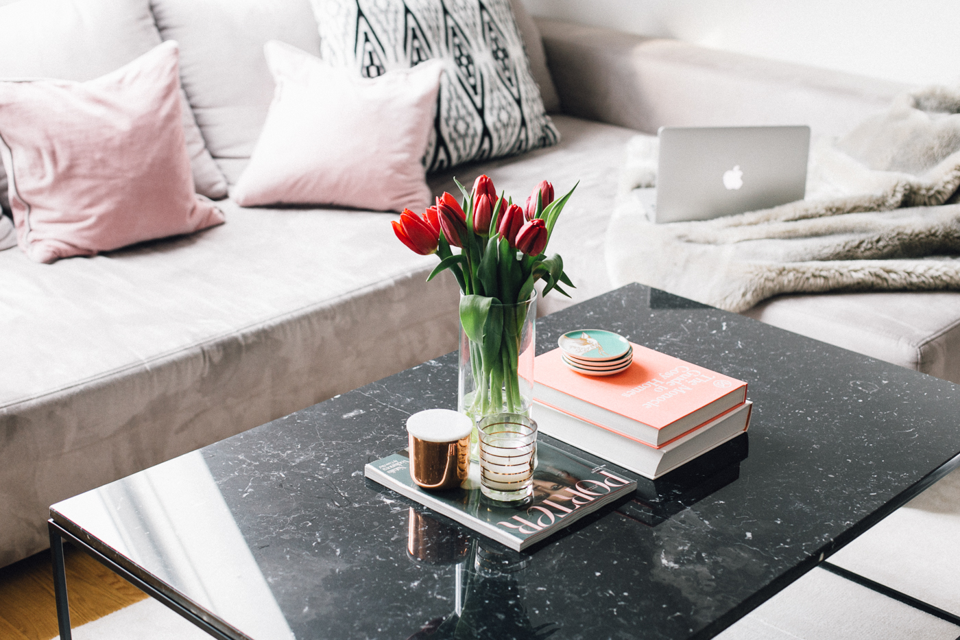 Black Marble Coffee Table | Bikinis & Passports