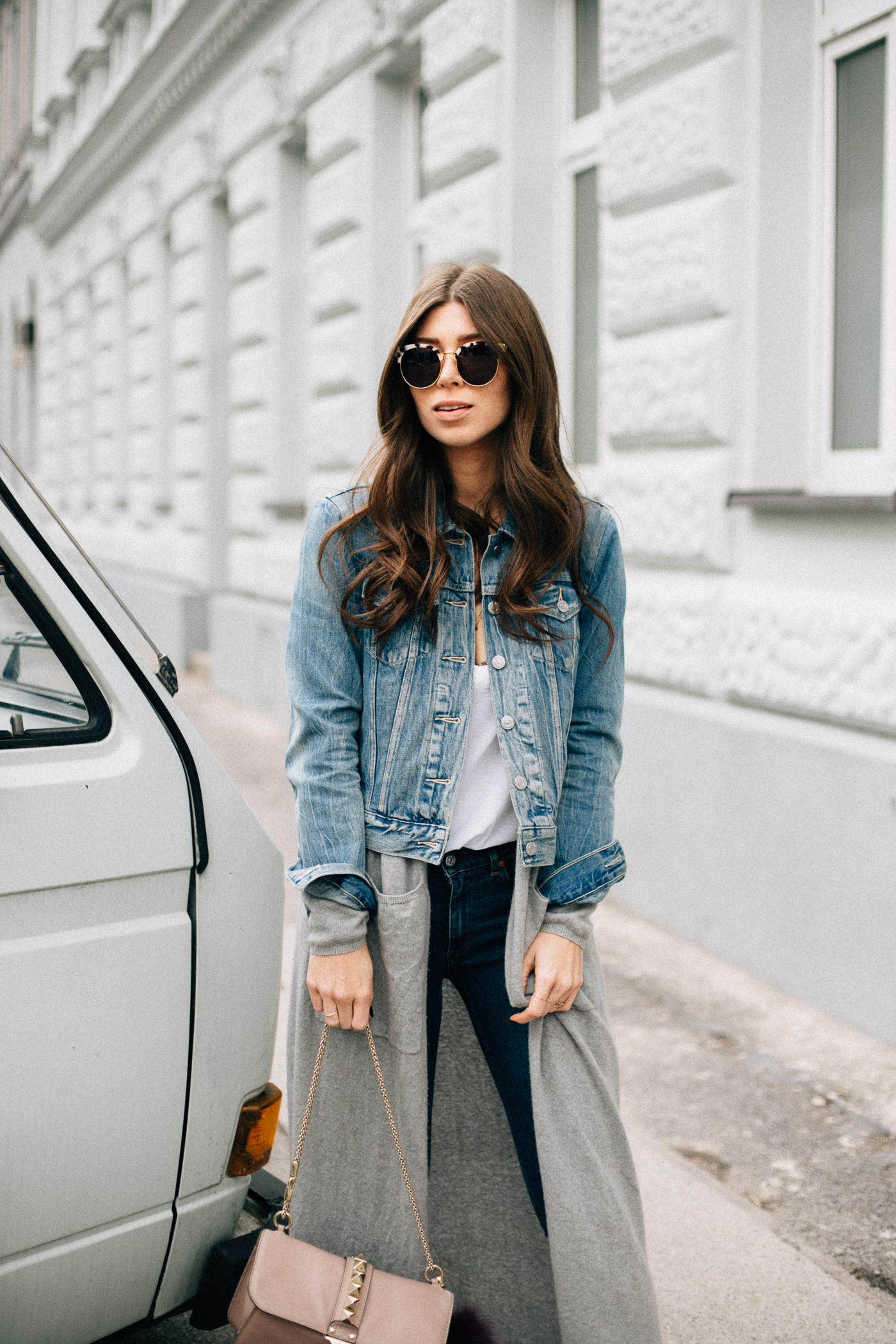 How To Wear Denim A Jacket - Outfit for Spring | Bikinis & Passports