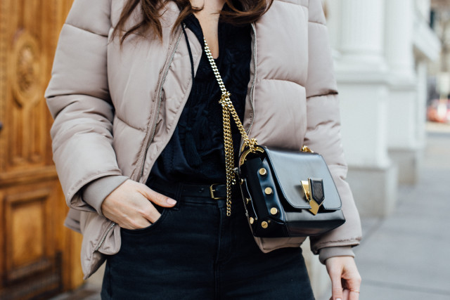 OUTFIT: Jimmy Choo petite lockett bag, black + gold hardware | Bikinis & Passports