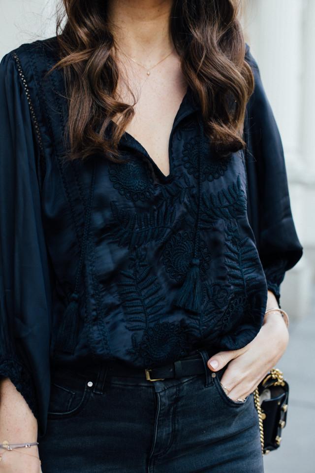 OUTFIT: black boho blouse ZARA | Bikinis & Passports