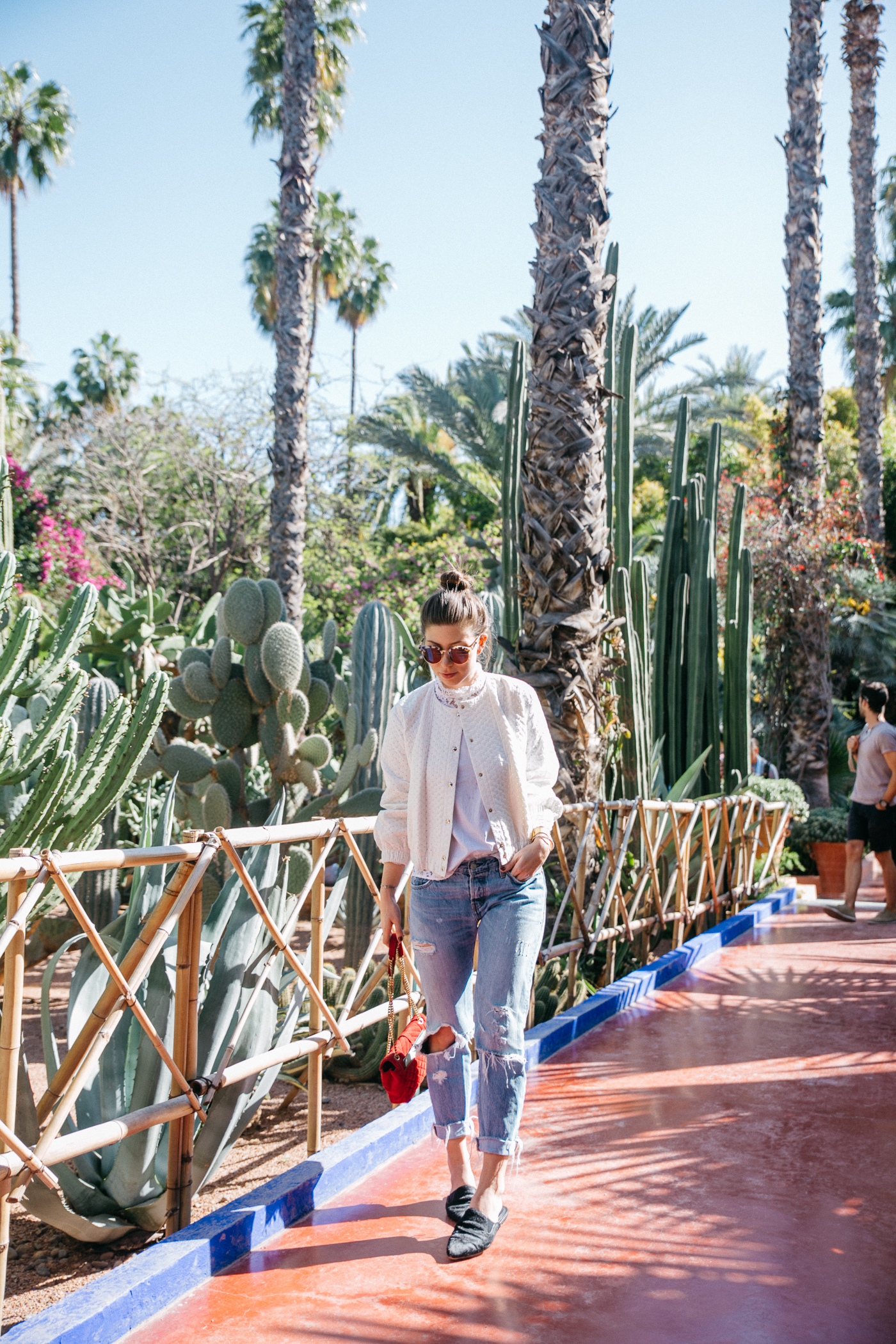 Le jardin majorelle marrakech yves saint laurent garden for Cafe le jardin marrakech