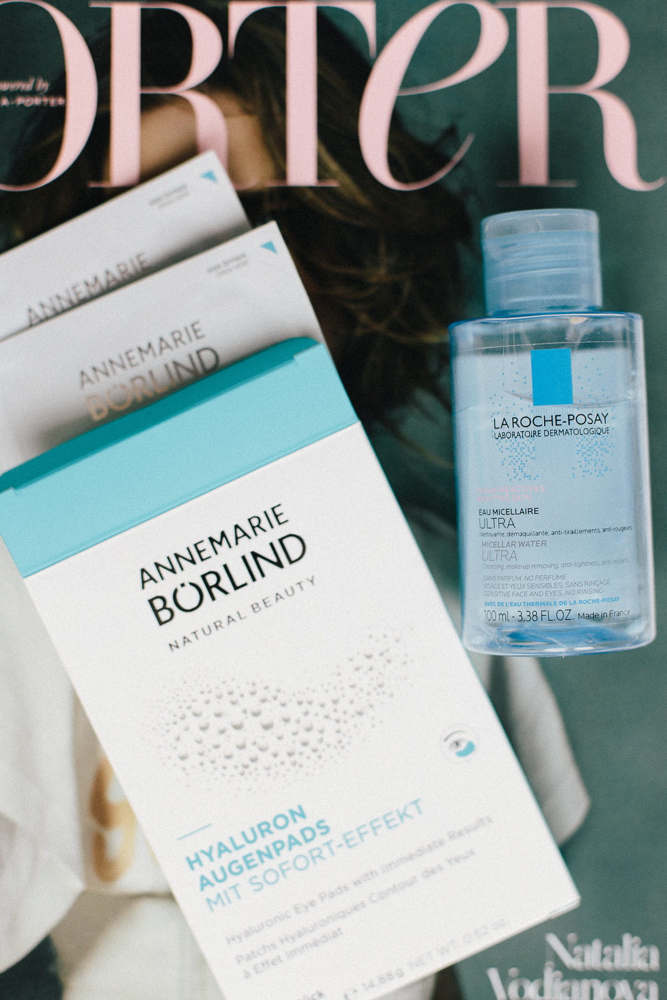 In-Flight Beauty Essentials: Annemarie Börlind Augenpads + Micellar Water | Bikinis & Passports