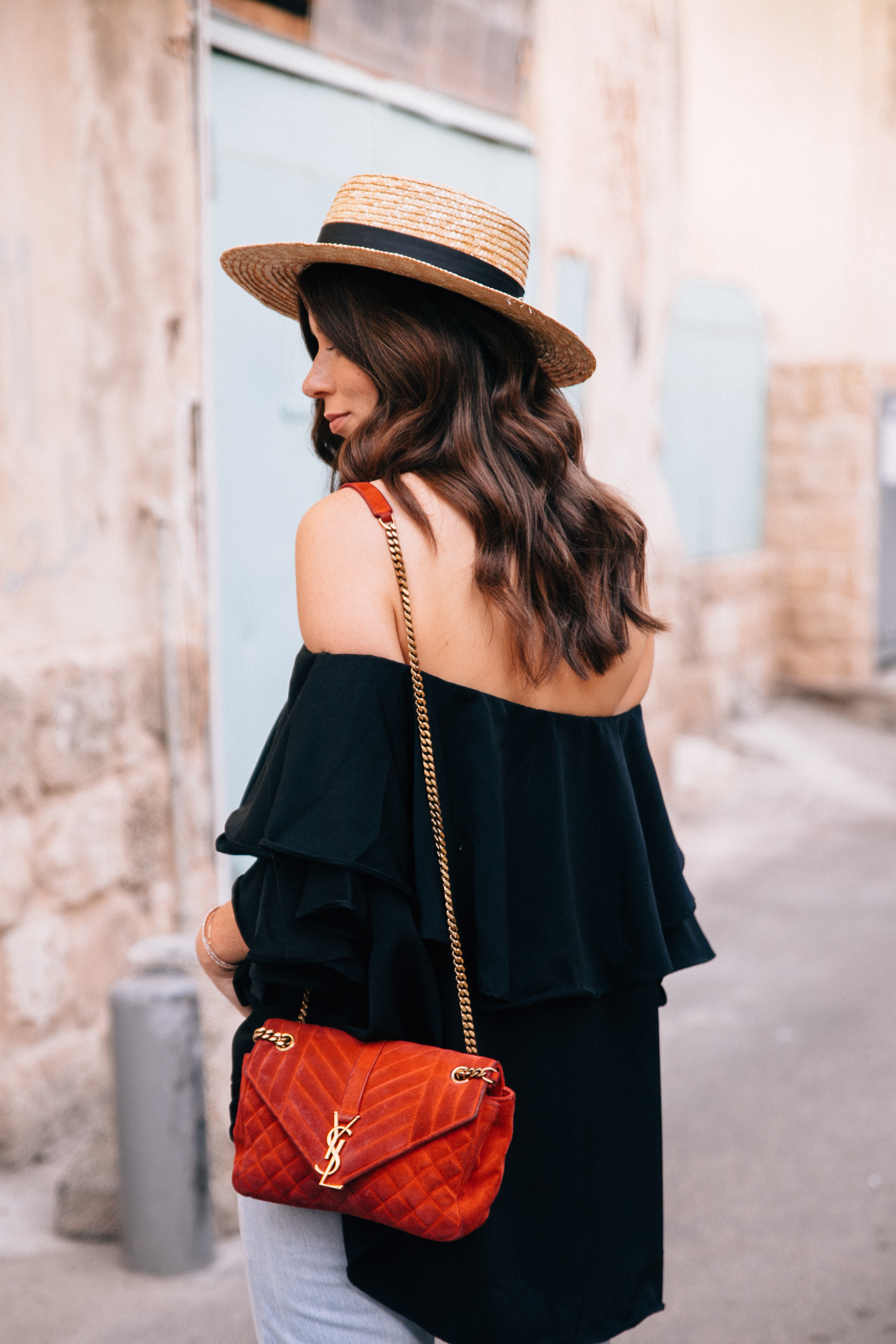 OUTFIT: MLM Label Off-Shoulder Top (black) | Bikinis & Passports