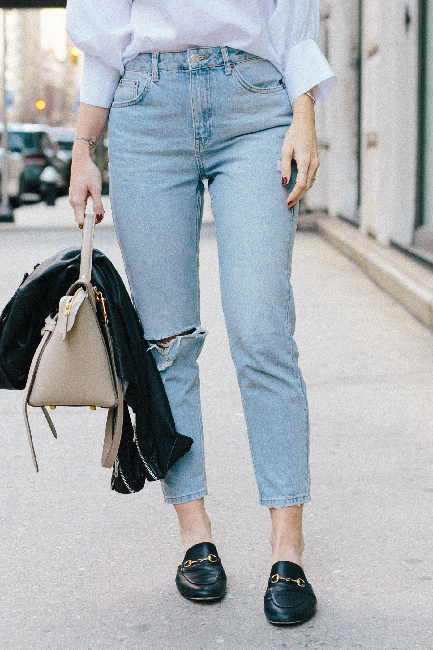 Tapered Bleached Denim - Mom Jeans | Bikinis & Passports